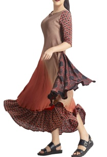 light-brown-rust-shaded-and-printed-tunic
