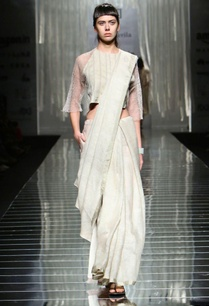 light-grey-linen-sari