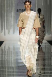 off-white-grey-striped-handwoven-sari