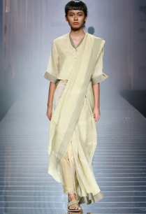 light-yellow-handwoven-sari-with-border