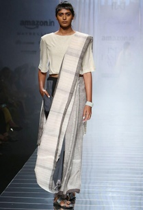 grey-handwoven-sari-with-striped-border