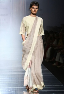 grey-handwoven-sari-with-cream-border