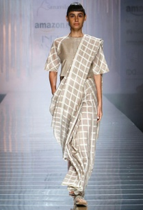 grey-handwoven-sari-with-white-checks