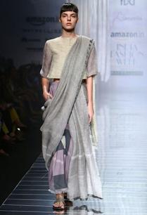 grey-handwoven-sari-with-color-block-detail