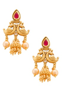 traditional-gold-plated-earring-with-pearl-drops