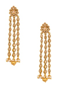 dull-gold-earrings-set-in-semi-precious-stones