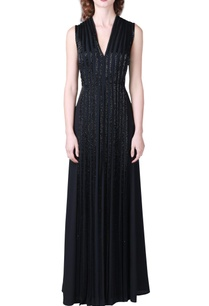 black-sequin-embellished-gown