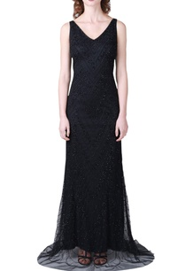 black-handcrafted-embellished-gown