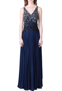 navy-blue-hand-embroidered-gown