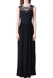 black-jersey-gown-with-embellished-neckline