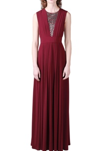 wine-jersey-gown-with-silver-embellishments