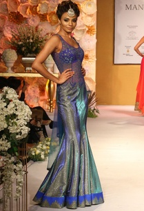 blue-body-fitted-cut-work-shimmer-gown