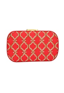 red-japanese-bead-embellished-clutch