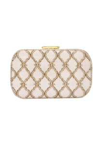 light-gold-bead-embellished-box-clutch