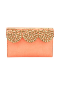 salmon-orange-japanese-glass-bead-work-embellished-box-clutch