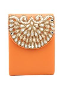 orange-bead-mirror-work-box-clutch