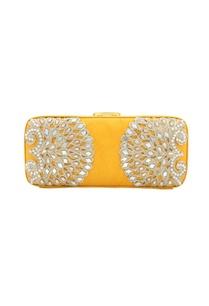 yellow-bead-mirror-work-box-clutch