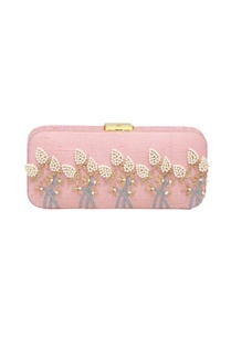 baby-pink-bead-mirror-work-box-clutch