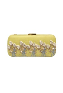pastel-yellow-bead-mirror-work-box-clutch