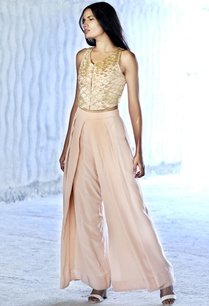 blush-pink-and-sequin-crop-top-with-flared-pants