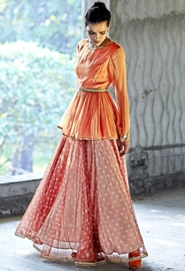 orange-oxblood-embellished-top-lehenga