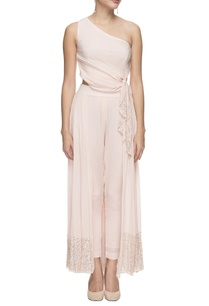 pastel-pink-embellished-top-draped-pants