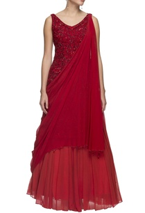 red-embellished-gown-with-drape