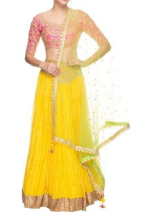 pink-yellow-green-embroidered-lehenga-set