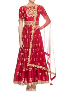 red-embroidered-anarkali-with-dupatta