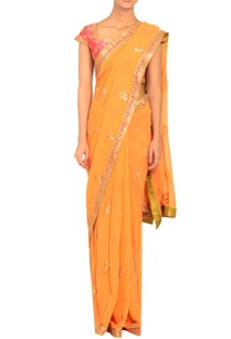 orange-embroidered-sari-with-a-blouse
