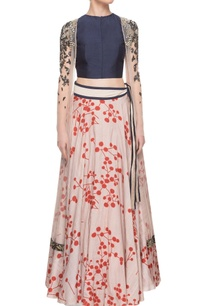 navy-blue-blouse-with-printed-lehenga