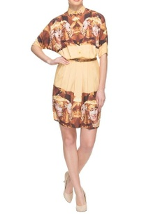 butter-yellow-digital-printed-shirt-dress