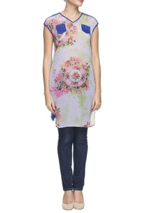 ice-blue-floral-printed-tunic