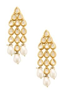 kunda-drop-earring-with-pearls