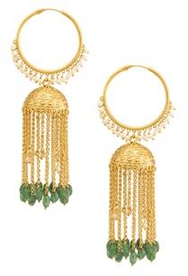 gold-emerald-green-hoop-jhumkas