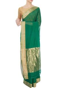 emerald-green-handwoven-sari
