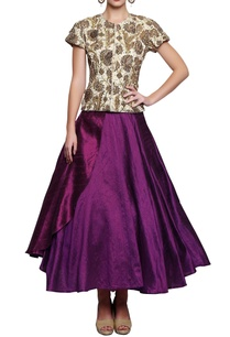 cream-embroidered-blouse-with-purple-skirt