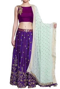 purple-royal-blue-embroidered-lehenga-set