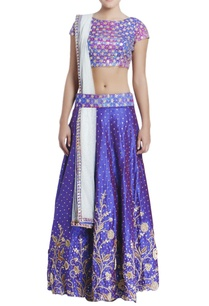two-toned-blue-hand-embroidered-lehenga-set