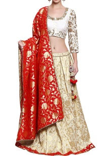 cream-red-and-gold-embroidered-lehenga-set