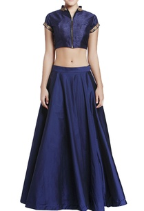 navy-blue-embroidered-crop-blouse-with-lehenga