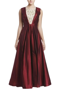 deep-maroon-embroidered-gown-with-sheer-back-detail