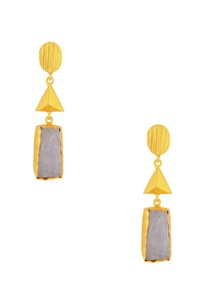 gold-plated-drop-earrings-with-white-semi-precious-stone