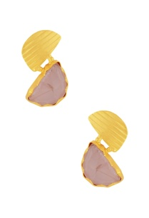 gold-plated-earrings-with-rose-pink-stone