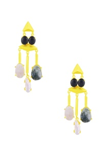 gold-finish-dangler-earrings-with-multi-colored-stones