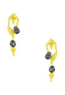 gold-finish-earrings-with-blue-semi-precious-stones