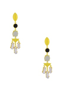 gold-finish-drop-earrings-with-semi-precious-stones