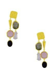 gold-finish-earrings-with-multi-colored-stones