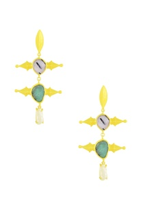 gold-finished-dangler-earrings-with-white-stone