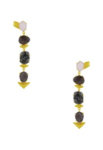 gold-finish-danglers-with-marbled-semi-precious-stones